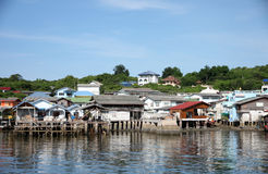 Coastal villages on the island. Stock Photos