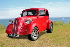 Coastal vintage customised ford anglia Stock Photo