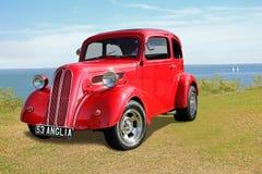 Coastal vintage customised ford anglia Stock Photo