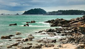 Coastal walk at Manganui, Bay of Plenty, New Zeala Royalty Free Stock Photography