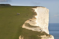 Coastal walkers Stock Image