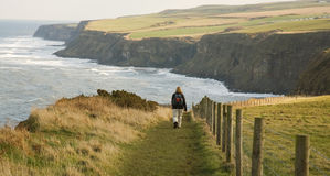 Coastal walking in North Yorkshire Stock Photos