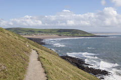 Coastal walks near Croyde Bay Stock Image