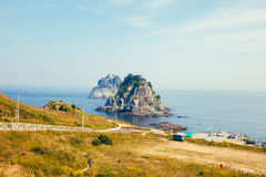 Coastal walks, Oryukdo islands In the spring. In Korea Stock Photos