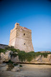 Coastal Watch Tower. A coastal watch tower built by the Knights of St John as part of the coastal defences of Malta Royalty Free Stock Image