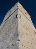 Coastal watch tower showing rungs. Ghajn Tuffieha coastal watch tower on Maltese coast built c.1658-59 to defend the islands from invasion or attacks by corsairs Stock Photos