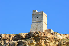 Coastal watchtower on island Malta. As a part of defense against raiders Royalty Free Stock Images