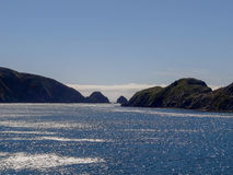 Coastal Waters from New Zealand Ferry Royalty Free Stock Photography
