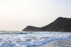 Coastal wave. In the morning at Pranburi, Thailand Stock Photography
