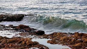 Coastal Wave and Rocks Stock Image