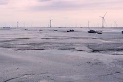 Coastal wind energy Royalty Free Stock Photo