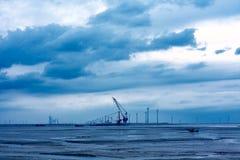Coastal wind energy Stock Photos