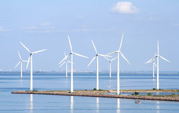 Coastal Wind Farm Royalty Free Stock Images