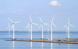 Coastal Wind Farm Royalty Free Stock Images