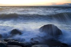 coastaline傍晚 库存照片