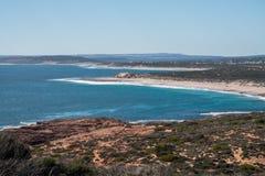Coastalline do parque nacional de Kalbarri, WA, Austrália Ocidental, Oceano Índico imagens de stock royalty free