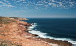 Coastalline do parque nacional de Kalbarri, WA, Austrália Ocidental, Oceano Índico fotos de stock