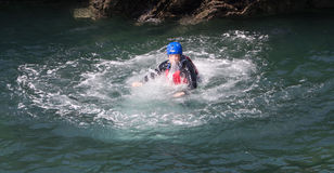 Coasteering Royalty Free Stock Images