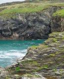 Coasteering dans les Cornouailles Images libres de droits