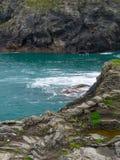 Coasteering en Cornualles Foto de archivo libre de regalías