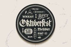 Coaster beer with lettering for Oktoberfest Festival Royalty Free Stock Image