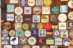 Coaster da cerveja Fotos de Stock Royalty Free