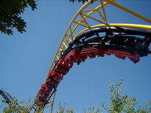 Coaster do Corkscrew de Silverwood Fotografia de Stock
