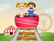 coaster prate roller vienna 免版税库存图片