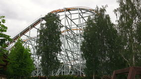 coaster prate roller vienna attractor 4K видеоматериал