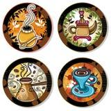 Coasters 4 da bebida Fotos de Stock Royalty Free