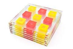 Coasters coloridos para o vidro Imagens de Stock Royalty Free