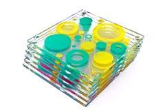 Coasters coloridos para o vidro Fotografia de Stock Royalty Free