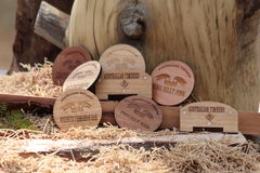 Coasters Made from Wood Royalty Free Stock Photos