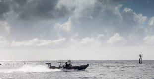 Coastguard Faat rib royalty free stock photo