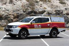 Coastguard- & havsräddningsaktionlastbil Södra - afrikan royaltyfria bilder