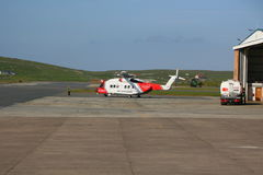 Rescue helicopter at airport Royalty Free Stock Photo