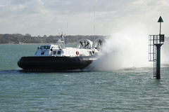Coastguard hovercraft Stock Photography