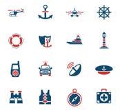 Coastguard icon set. Coastguard web icons for user interface design Stock Images