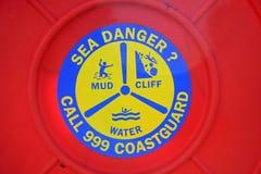Coastguard sign Stock Photos
