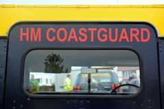 Coastguard vehicles at Bridlington East Yorkshire Stock Images