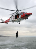Coastguard Winch Rescue Royalty Free Stock Photo