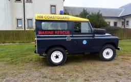Coastguardmedel på Bridlington östliga Yorkshire Arkivbilder