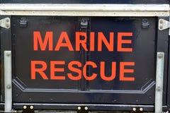 Coastguardmedel på Bridlington östliga Yorkshire Royaltyfri Foto