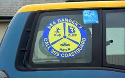 Coastguardmedel på Bridlington östliga Yorkshire Arkivfoton