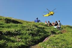 Coastguardräddningsaktion Royaltyfria Bilder