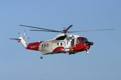 coastguardräddningsaktion arkivbild