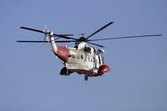 coastguardräddningsaktion arkivbilder