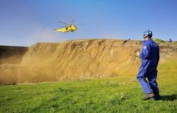 Coastguardräddningsaktionläge Royaltyfri Bild