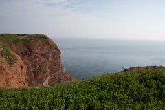 Coastine da ilha Helgoland Imagens de Stock