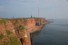 Coastine of the island Helgoland Stock Photography